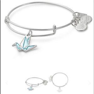 Alex and Ani paper crane bangle bracelet